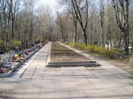 Киновеевское кладбище в Невском районе в Санкт-Петербурге