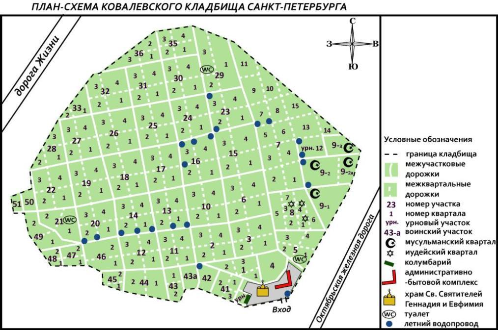 Адрес Ковалевского кладбища